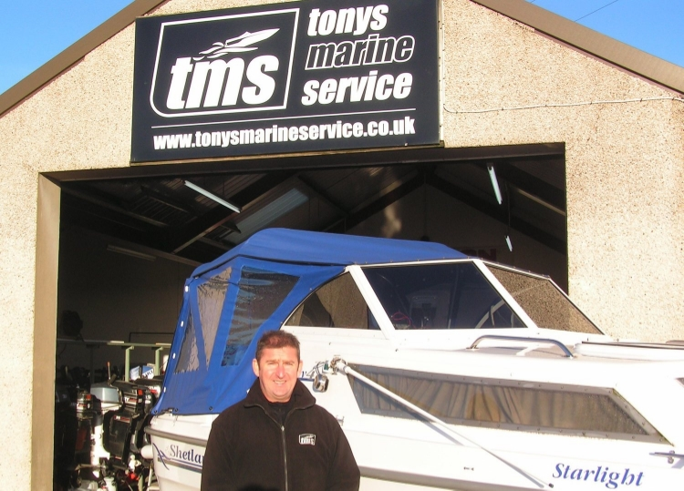 Tony Hodges, founder and proprietor of Tony's Marine Service