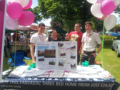 The Unity Homes and Enterprise stand at the 2015 Beeston Festival