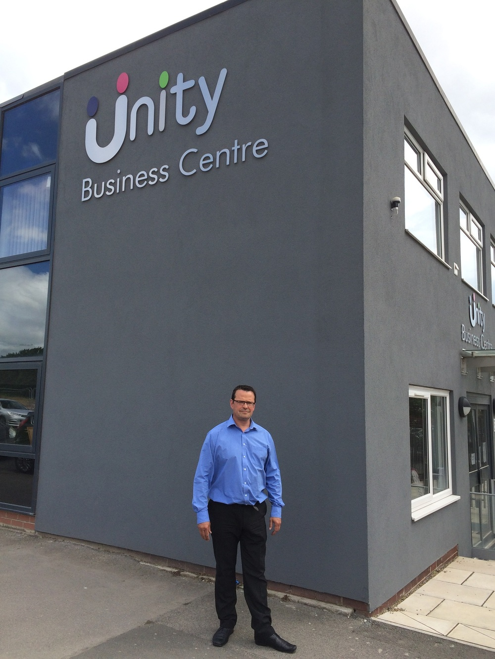 Enterprise Manager Adrian Green outside Unity Business Centre in Chapeltown