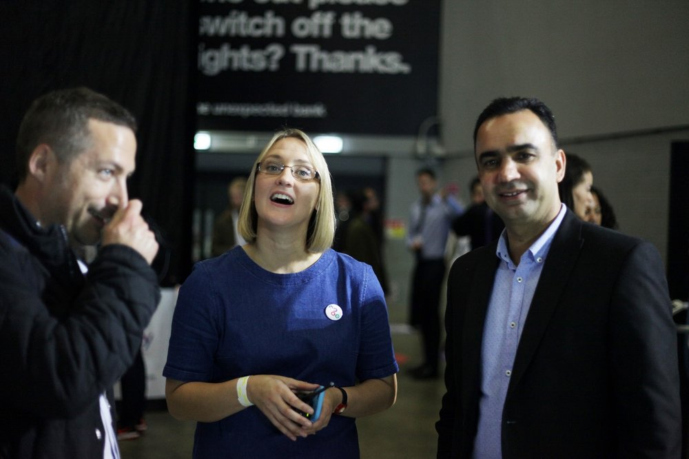 Amy De-Balsi (centre) from Herd, organisers of Leeds Digital Job Fair 2.0