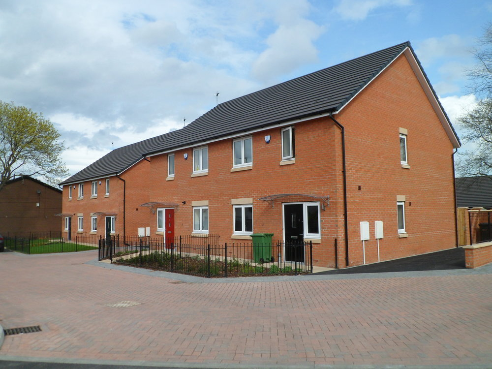 Newly built houses in the Rocheford Court development