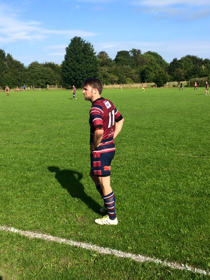 OVER HERE: Aireborough's junior coaching co-ordinator Kris Brook waits for the pass that never came