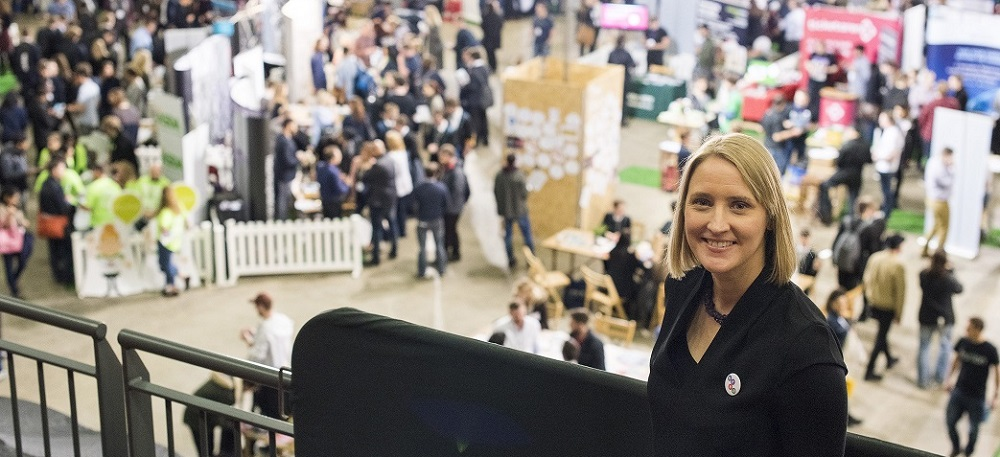 Herd's Amy De-Balsi overseeing a wonderfully successful Leeds Digital Job Fair 3.0 at the First Direct Arena