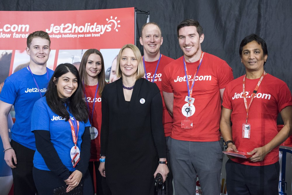 Herd's Amy De-Balsi with the Jet2.com and Jetholidays team at Leeds Digital Job Fair 3.0