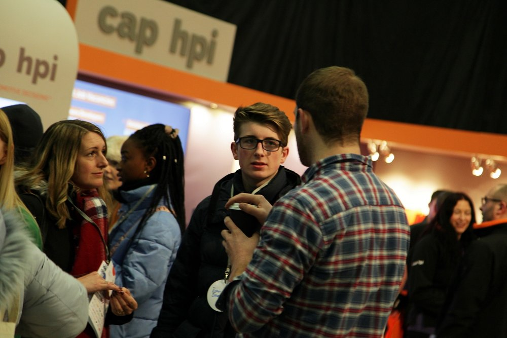 The busy cap hpi stand at Leeds Digital Job Fair 4.0