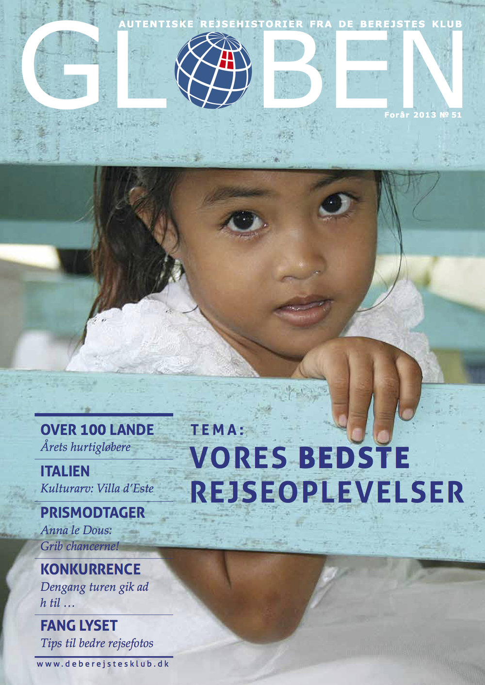 Issue 51: Vores Bedste Rejseoplevelser   The theme for this issue is Our Best Travel Experiences, and it tells the stories of club members tracing the parents' past in Sierra Leone, expedition in the Solomon Islands, wedding adventure in Italy, and much more. Download the issue  here .