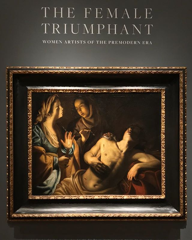 Night tour of The Female Triumphant at @sothebys  I could stare at these for days.  #oldmasters #femalemasters #greatwomenartists #iwasthisclosetothepainting #sothebys #nyc #thewing @the.wing #buywomensart #sellwomensart