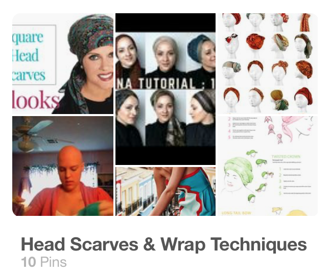 How to tie head scarves for hair loss