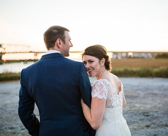 These two look so warm and happy, but only half of that is true. They are definitely happy and definitely NOT warm. It was absolutely freezing for their waterside ceremony, but you'd never know it from their smiles! #durphilyeverafter