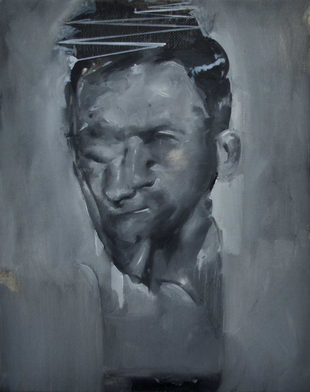 """Uncomfortable Portrait"" (2011)  Oil on canvas  19.5 x 16 in"