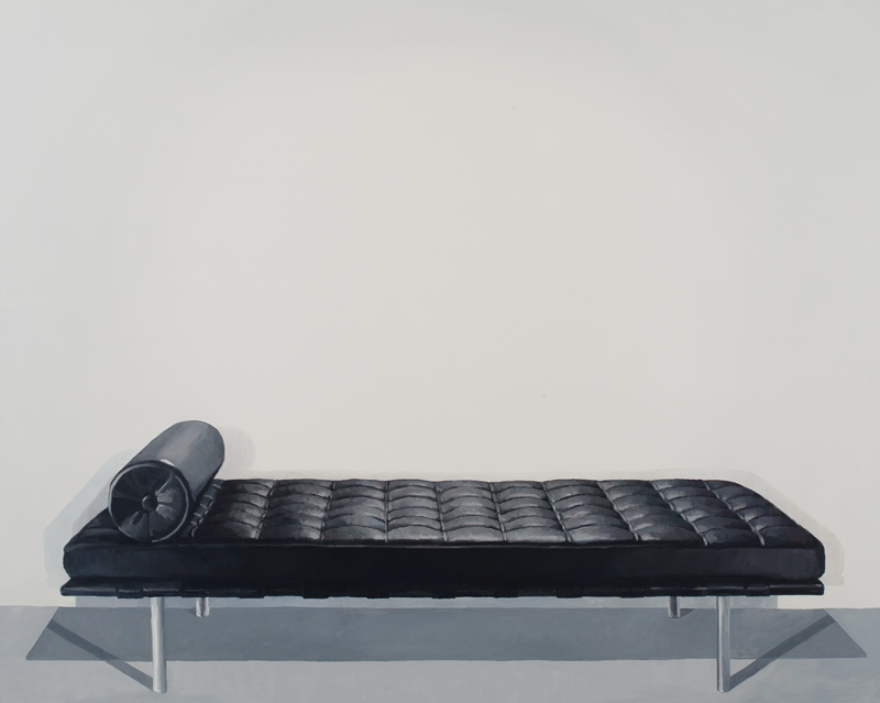 """Barcelona Couch"" (2011)  Oil on linen  72 x 90 in"