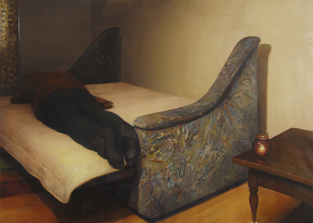 """""""Afternoon Nap"""" (2010)  Oil on canvas  57 x 75 in"""
