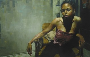 """Tasha"" (2003)  Oil on canvas  46 x 72 in"