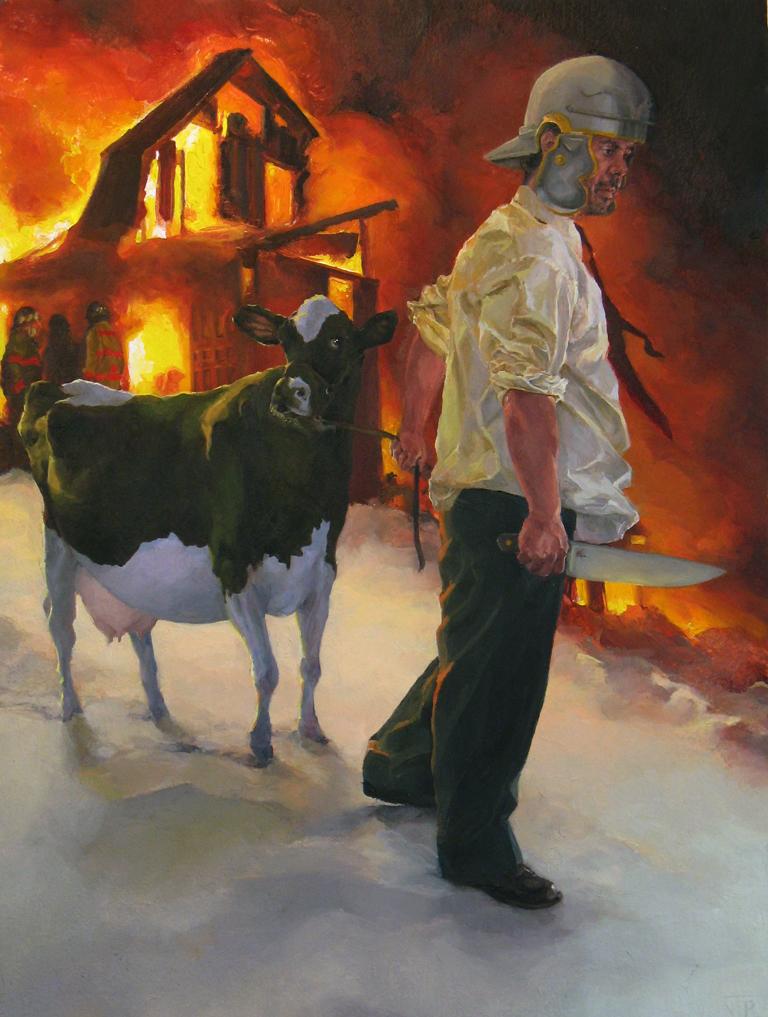 """Self Sacrifice"" (2007)  Oil on panel  12 x 9 in"
