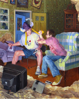 """Ragnarok 3"" (2007)  Oil on panel  10 x 8 in"