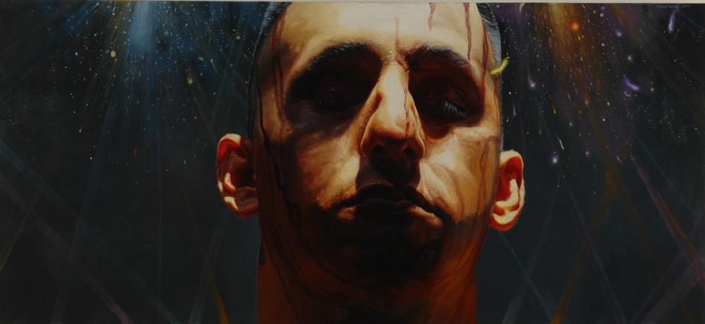 """""""Winner"""" (2007)  Oil on canvas  25.25 x 55 in"""