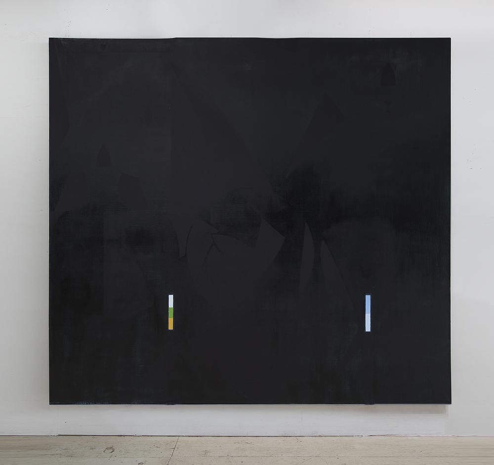 Nathlie Provosty, Thrice II, 2014, Oil on linen, 84x92 in (213x234cm)    Taylor Collection Denver  www.theartaffair.com