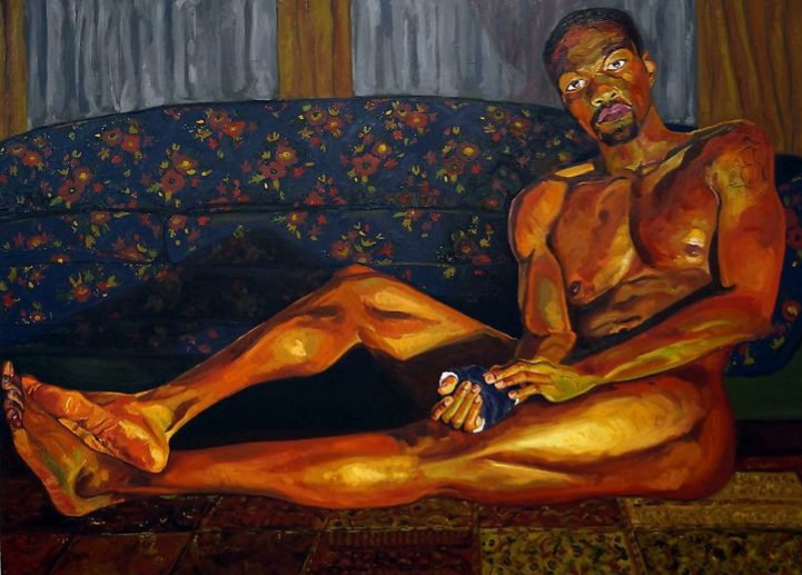 Jordan Casteel Yahya 2013 Oil on canvas 52x72in     Taylor Collection Denver  www.theartaffair.com