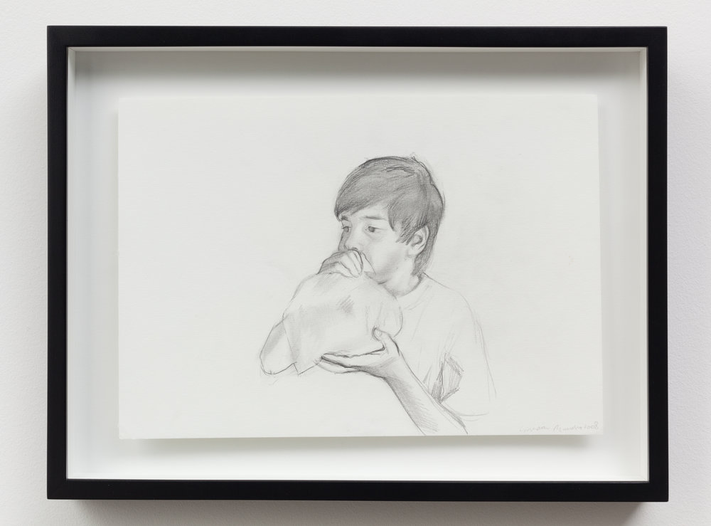 """Untitled (Pioneers)"" (2008)  Graphite on paper  8 x 11.5 in each"