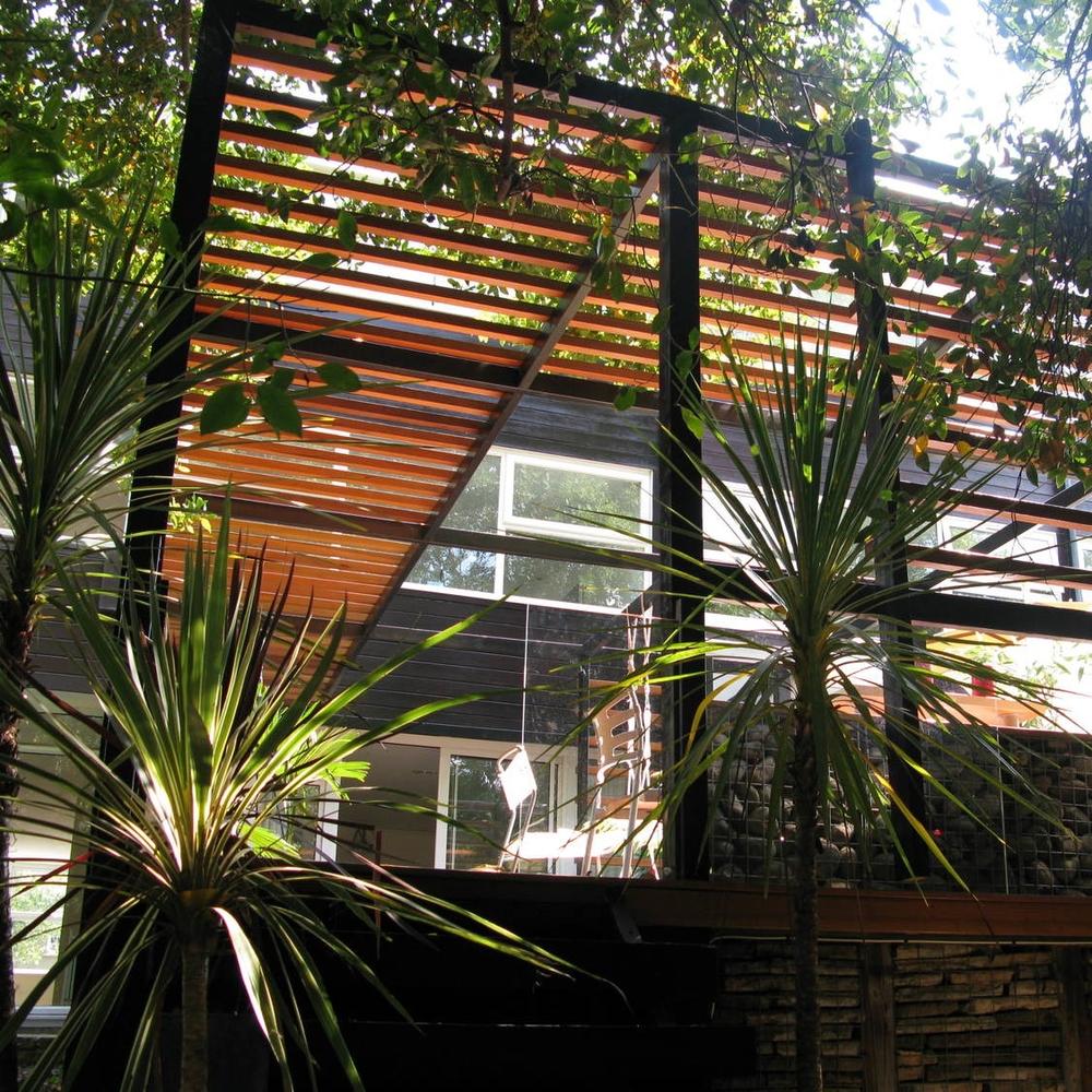 modern contemporary architect teddington timber louvres garden landscape