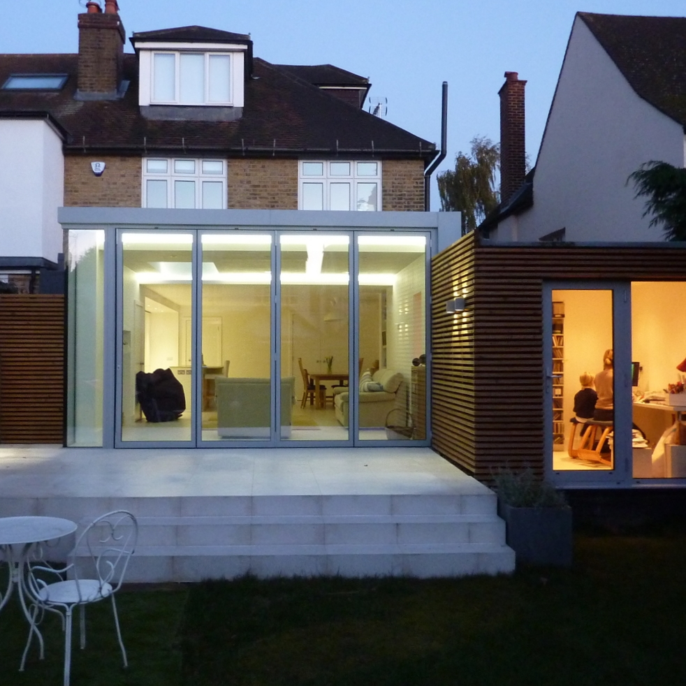 contemporary modern architect hampton sliding door wood cladding