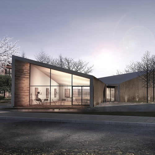 Modern Contemporary Architect Church Hall Arts Teddington Surrey London Timber cladding Rodeca