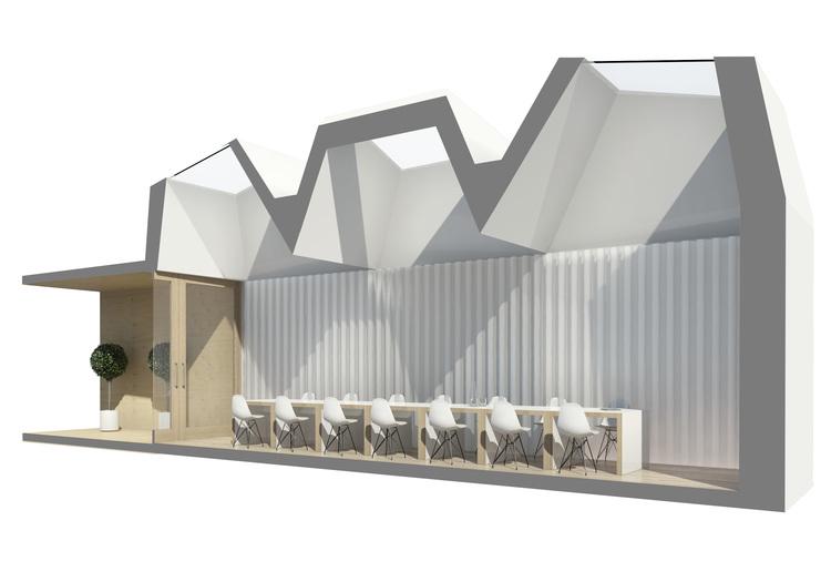 Modern Contemporary Fletcher Crane Architect Hotel Indigo Conference Kensington London Perspective Section