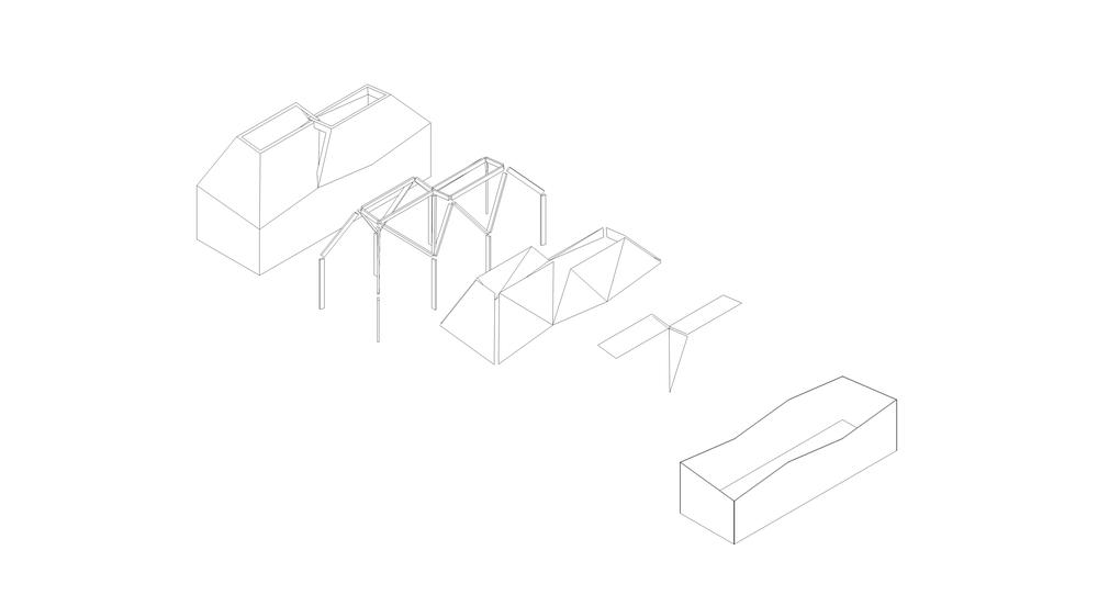 Modern Contemporary Fletcher Crane Architect Hotel Indigo Conference Kensington London Exploded Axonometric Structure