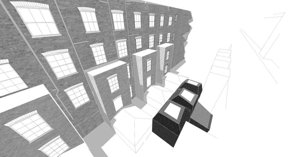 Modern Contemporary Fletcher Crane Architect Hotel Indigo Conference Kensington London Black Plastic Context