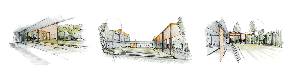 Modern Contemporary Architect Weybridge St George's Hill Surrey House Sketches Concept