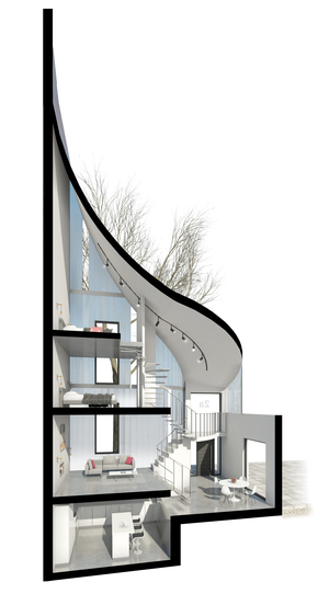 Modern Contemporary Architect House Kensington London Linit Glass Spiral