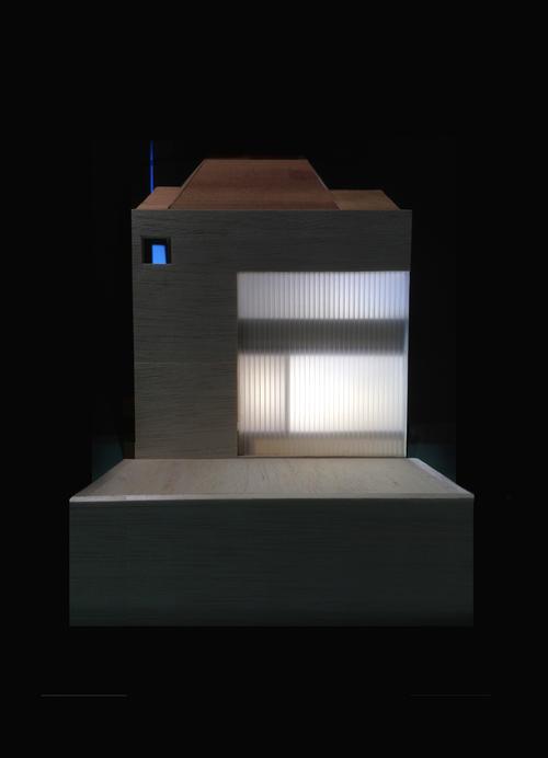 Modern Contemporary Architect Mew House Hyde Park London Linit glass split level Model