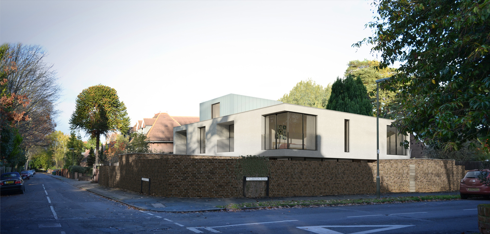Modern Contemporary Architect Weybridge St George's Hill Surrey House White Box Architecture Linit Glass