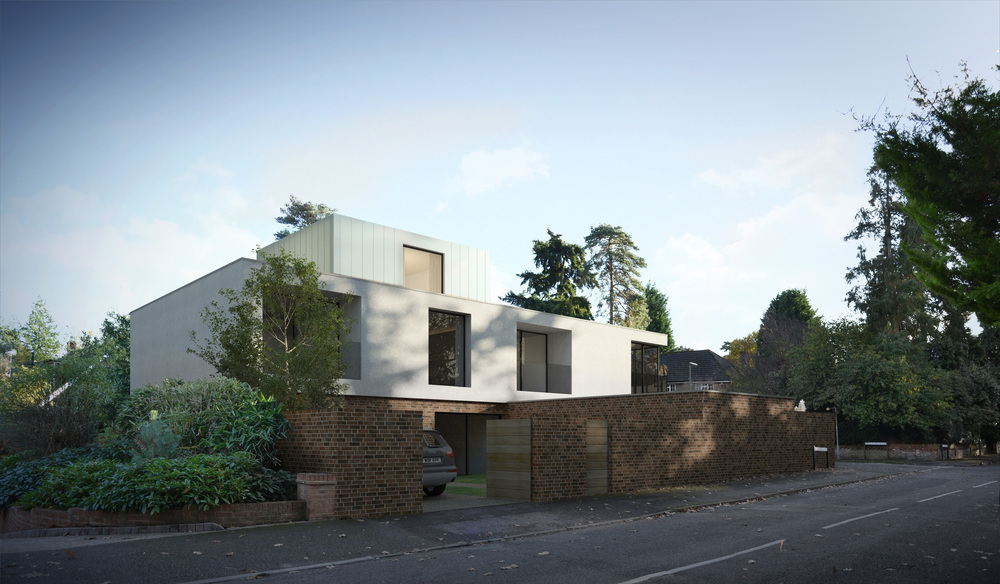 Modern Contemporary Architect Weybridge St George's Hill Surrey House White Box Glass Linit