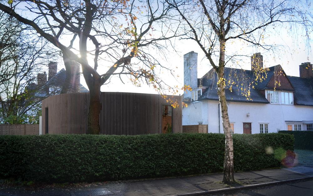 Modern Contemporary Architect London Baines Timber Corner Plot
