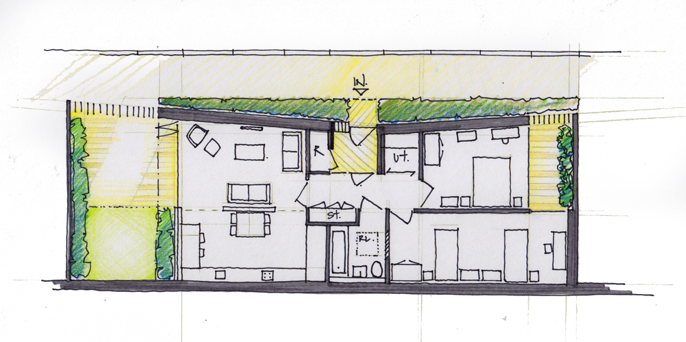 Modern Contemporary Fletcher Crane Architect Housing Residential Plan Detail
