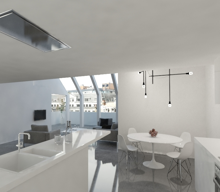 Modern Contemporary Fletcher Crane Architect Housing Residential Soho London Kitchen