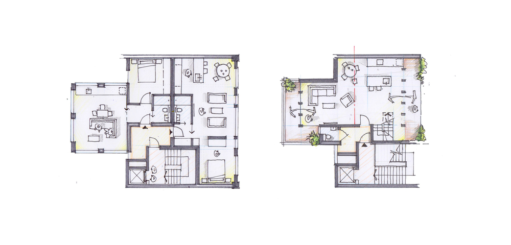 Modern Contemporary Fletcher Crane Architect Housing Residential Soho London Floor Plan Concept