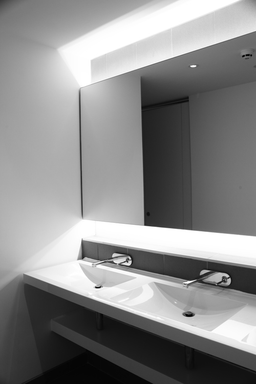 Modern Contemporary Fletcher Crane Architect Commercial Office Warrington Manchester Fitout Bathroom