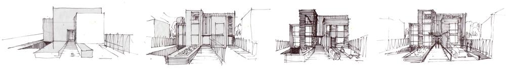 Modern Contemporary Fletcher Crane Architect Housing Residential Epsom Surrey Sketch Concept