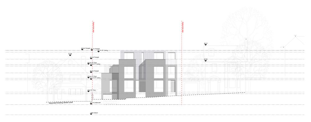 Modern Contemporary Fletcher Crane Architect Housing Residential Epsom Surrey Elevation