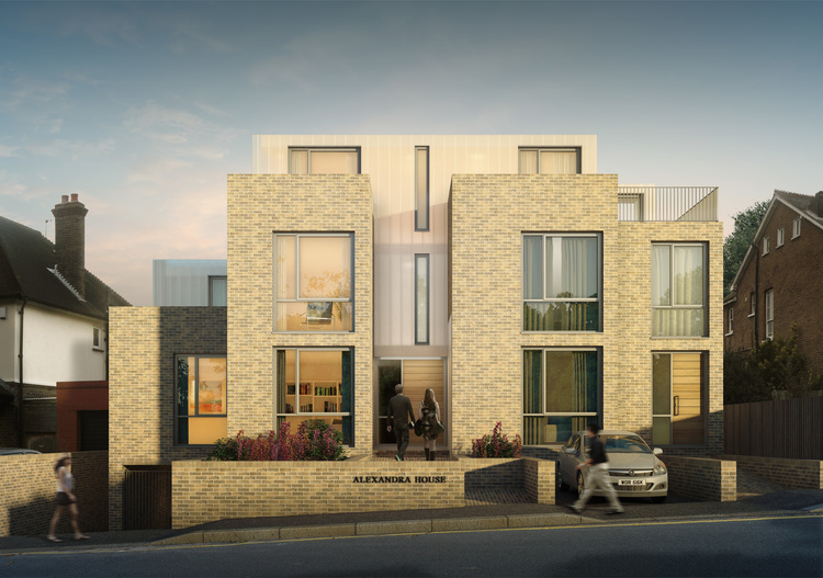 Modern Contemporary Fletcher Crane Architect Housing Residential Epsom Surrey Facade