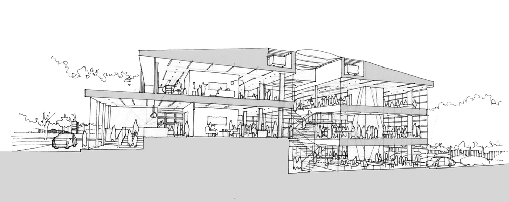 Modern Contemporary Fletcher Crane Architect Office Commercial Leatherhead Surrey Masterplan