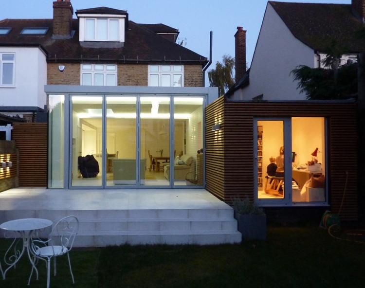 Modern Contemporary Fletcher Crane Architect Extension Hampton Court Surrey Sliding Door Timber Wood Cladding