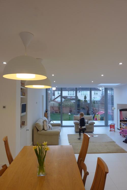 Modern Contemporary Fletcher Crane Architect Extension Hampton Court Surrey Internal Big Kitchen