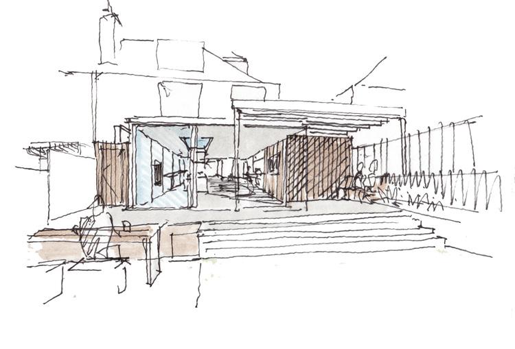 Modern Contemporary Fletcher Crane Architect Extension Hampton Court Surrey Sketch Concept