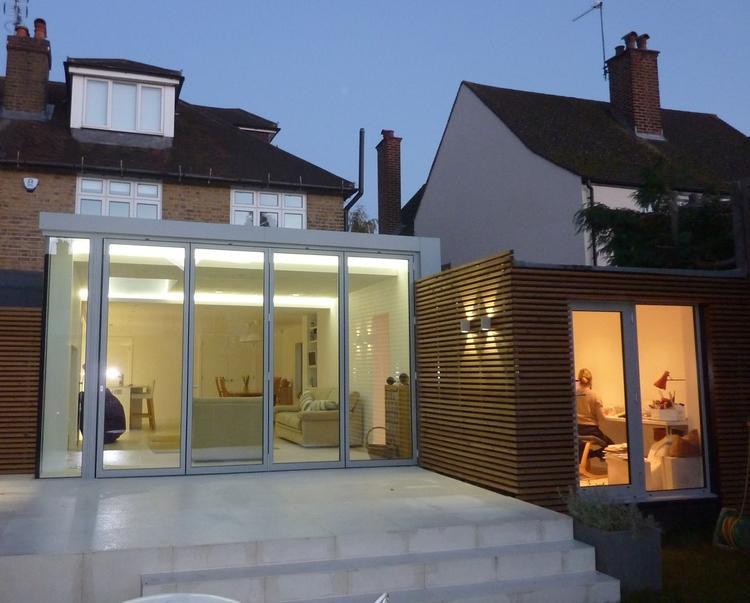 Modern Contemporary Fletcher Crane Architect Extension Hampton Court Surrey Timber Sliding Door