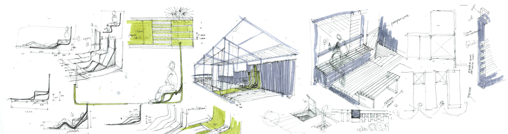 Modern Contemporary Fletcher Crane Architect Extension Teddington Surrey Concept Sketch