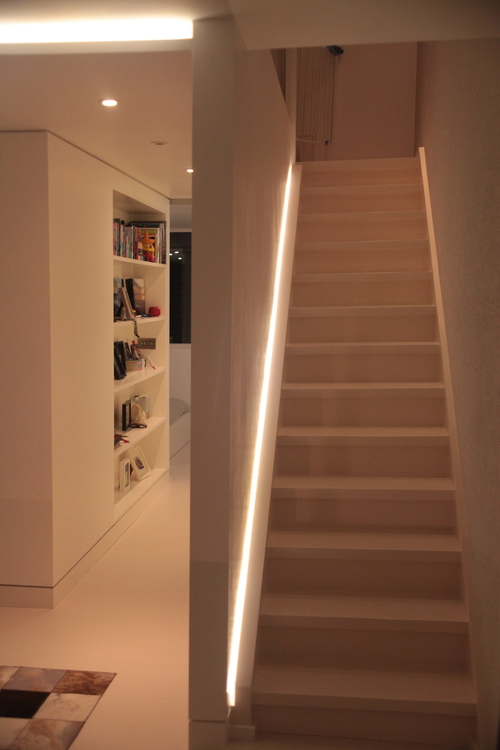 Modern Contemporary Fletcher Crane Architect Extension Teddington Surrey Shadow Gap LED Lighting