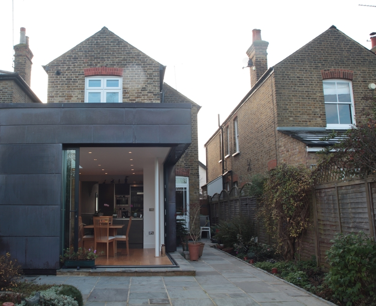Modern Contemporary Fletcher Crane Architect Extension Kingston Copper Corner window